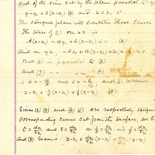 Loose page stuffed into the copy book, math