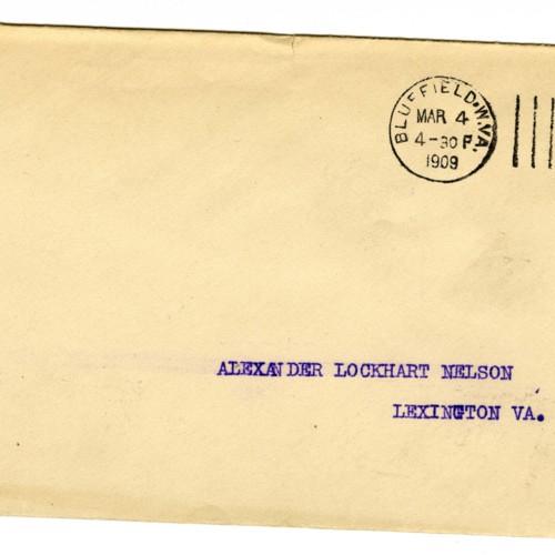 Envelope Addressed to Alexander Lockhart Nelson (correspondence)
