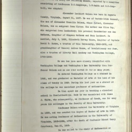 Trustee's Papers regarding Nelson