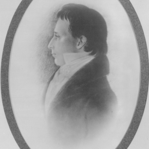 Charcoal drawing of Reverend James Morrison