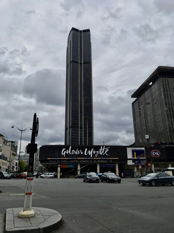 View of Montparnasse Galeries Lafayette, May 2018
