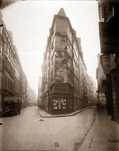 Coin rue de Seine by Eug�&copy;ne Atget<br /><br /> <br /><br /> Eugene Atget Coin rue de Seine Tirage entre 1924 et 1926 d�&#8482;apres negatif de 1924 1924 http://expositions.bnf.fr/atget/grand/6487.htm. [Public domain], via Wikimedia Commons. https://commons.wikimedia.org/wiki/File:Eug%C3%A8ne_Atget_Coin_rue_de_Seine_2.jpg<br /><br /> Public domain {{PD-1996}} <br /><br /> <br /><br />
