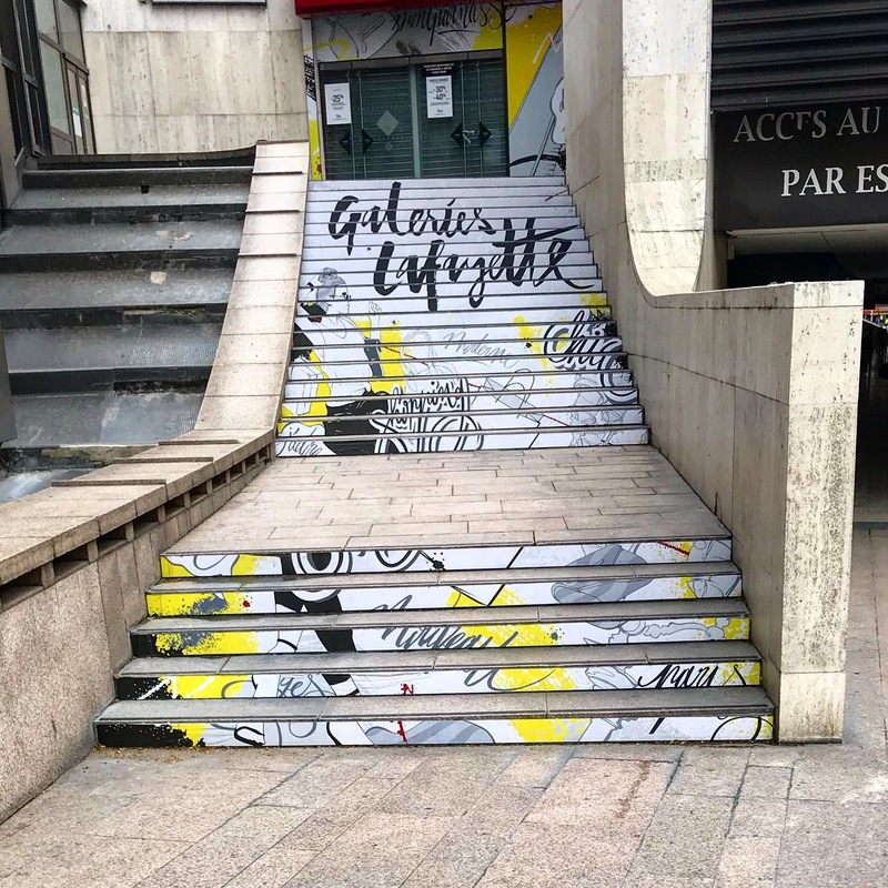 Galeries Lafayette stairs, May 2018