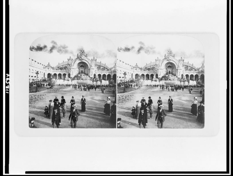 A stereoscope of the palace of electricity. <br /><br /> Chateau d'Eau and palace of electricity, Paris exposition of. Photograph. Retrieved from the Library of Congress, &lt;www.loc.gov/item/95501986/&gt;.
