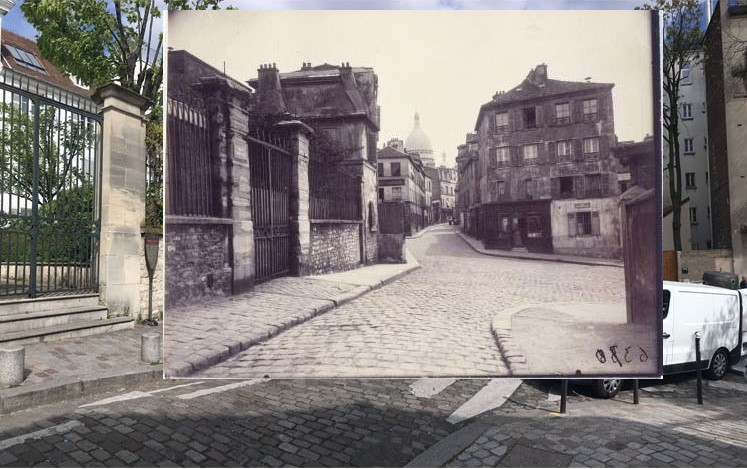 Photo and Rephoto Collage (Atget and Michel)