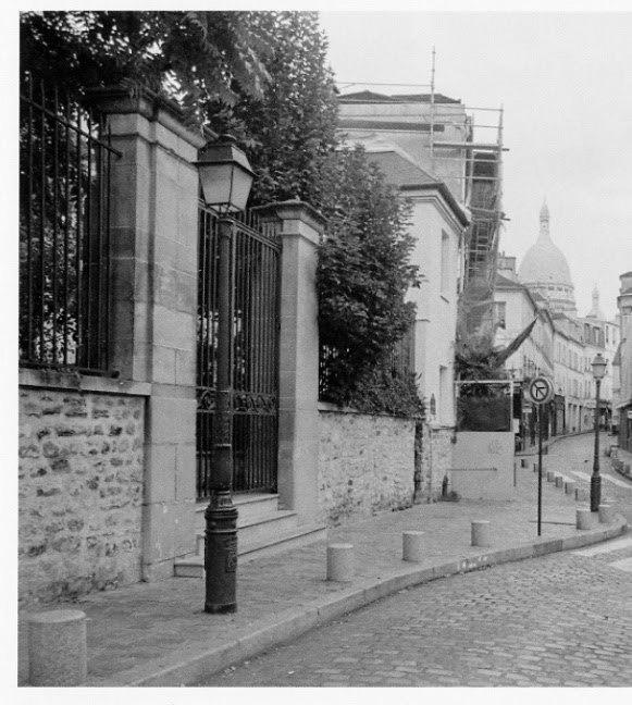 Le Sacr�©-Coeur, vue de la Rue Norvins (Rauschenberg)